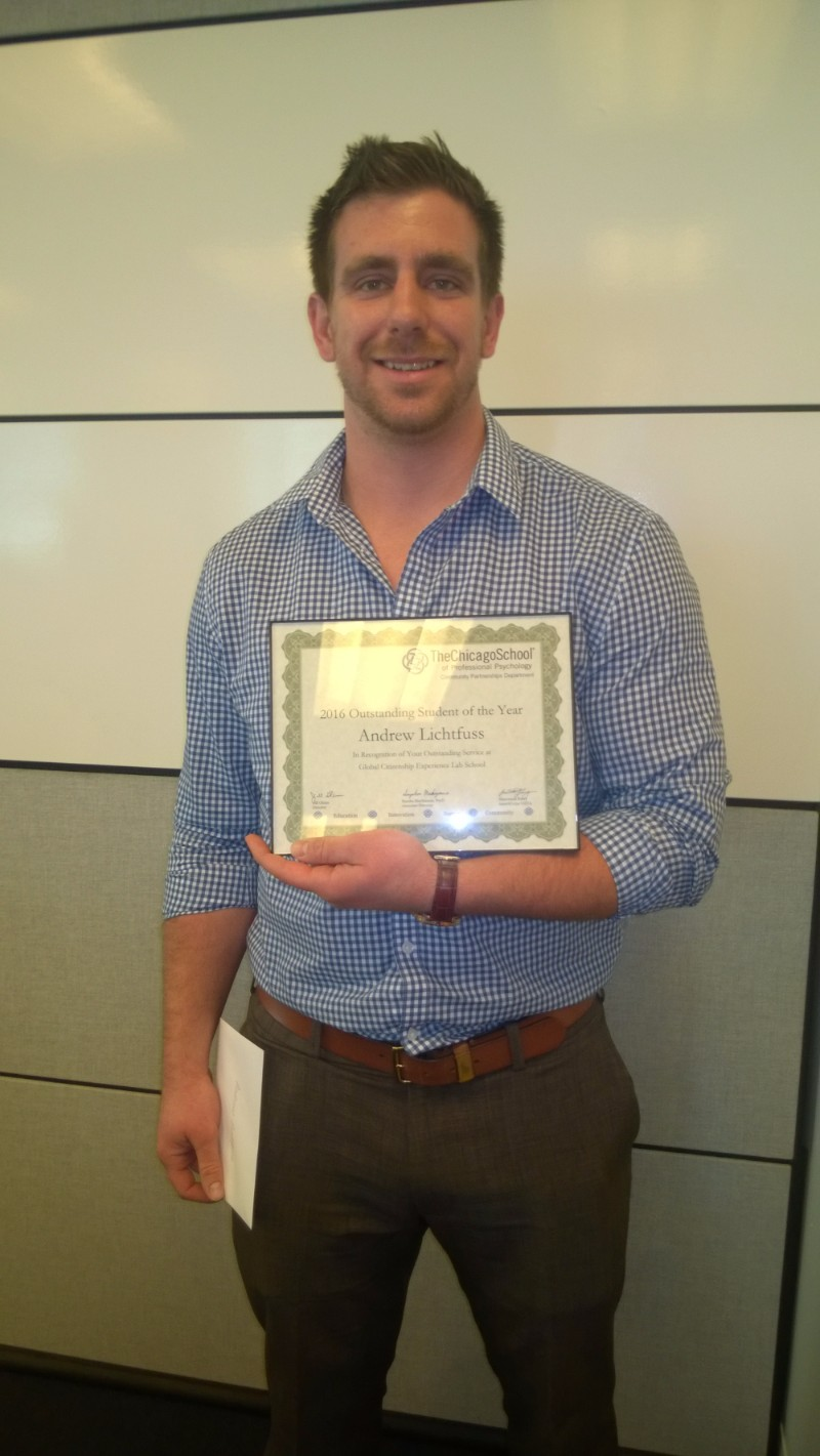 Outstanding Student of the Year - Andrew Lichtfuss, GCE Lab School