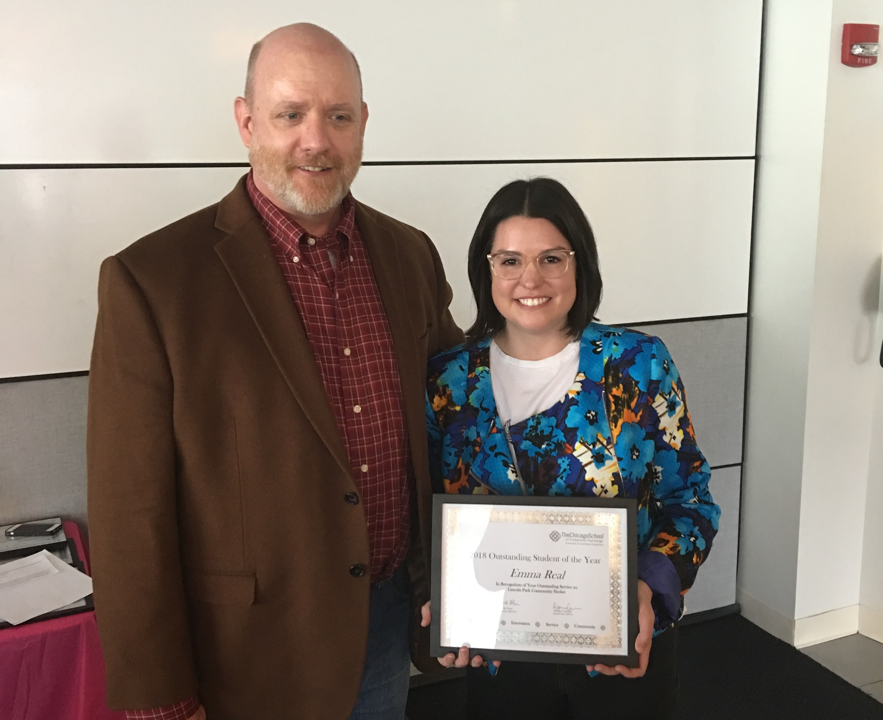 Outstanding Student Awards - Emma Real, Masters in Counseling Psychology – Lincoln Park Community Shelter