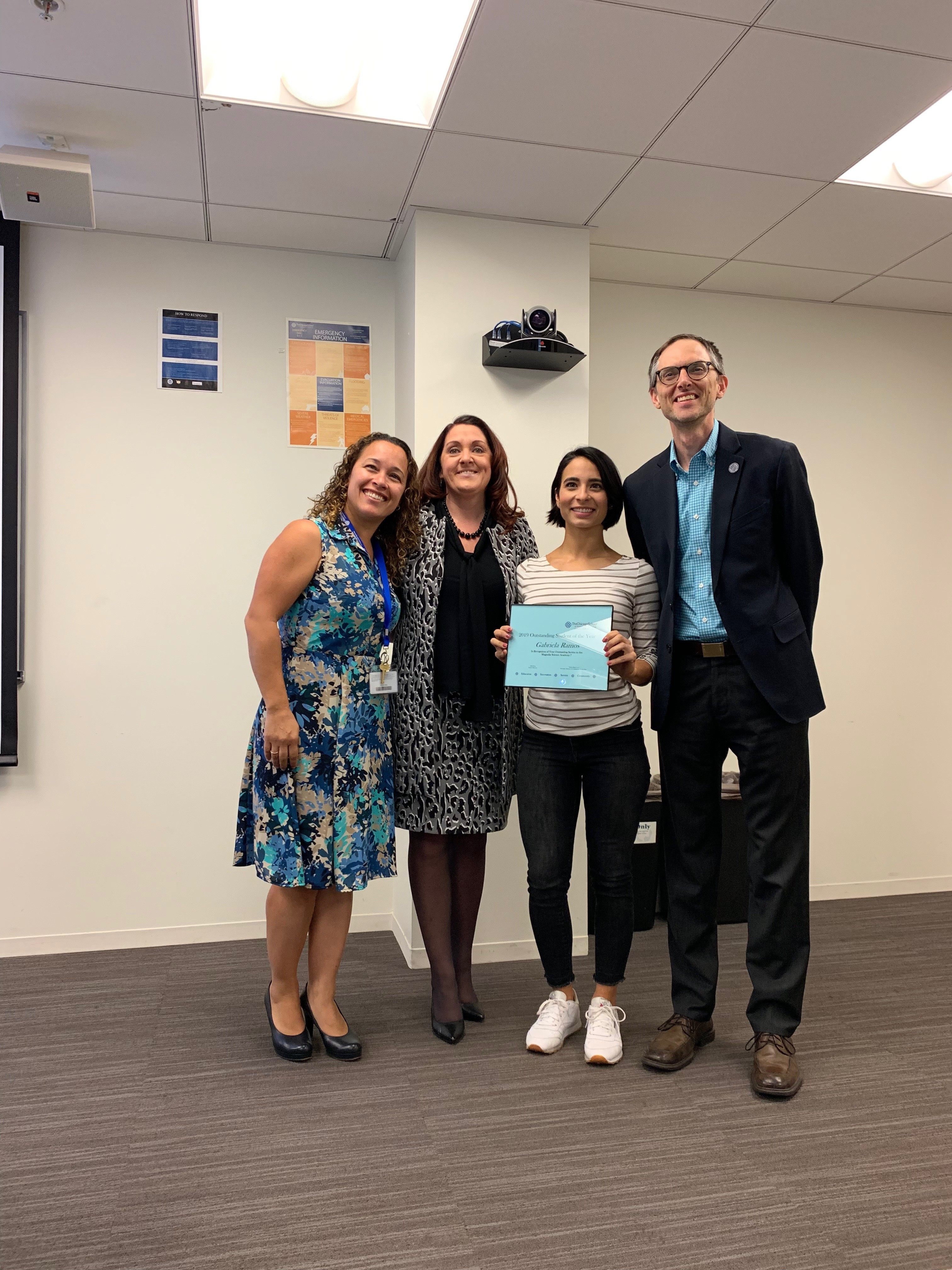 - Outstanding Student L.A. 2019 - Gabriela Ramos - serving at Magnolia School