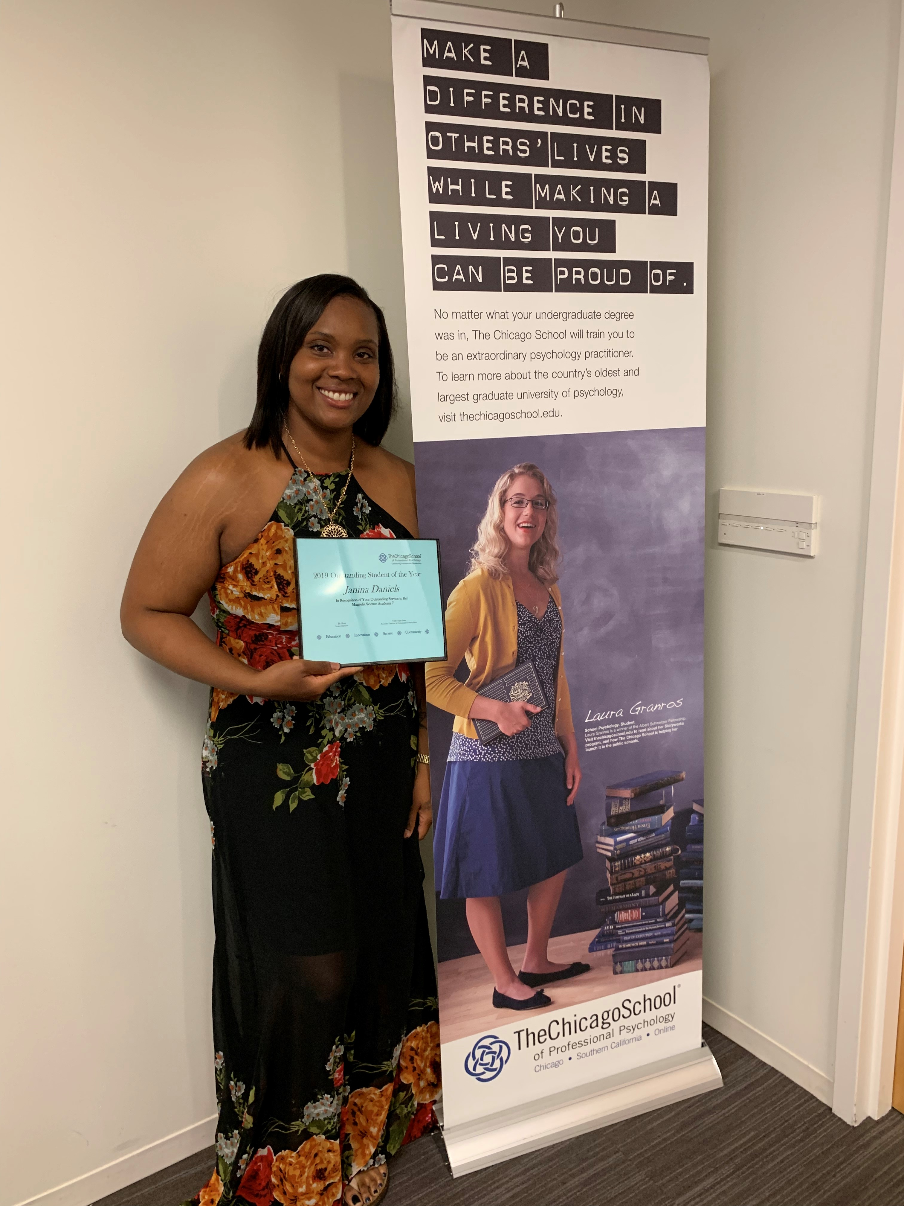 - Outstanding L.A. Student 2019, Janina Daniels serving with Magnolia Sciene Academy 7