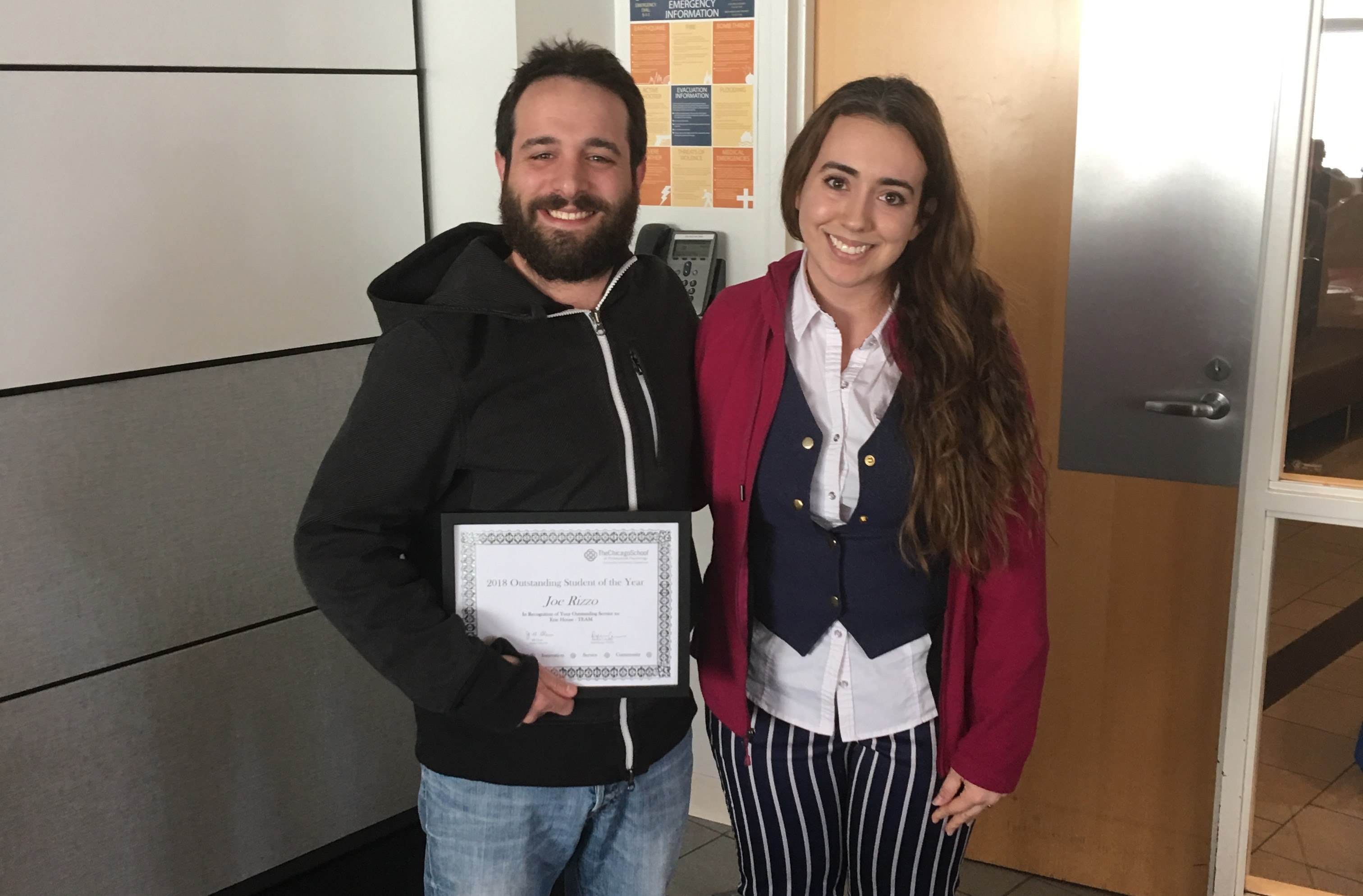 Outstanding Student Award - Joe Rizzo, Masters in Counseling Psychology – Erie Neighborhood House TEAM program