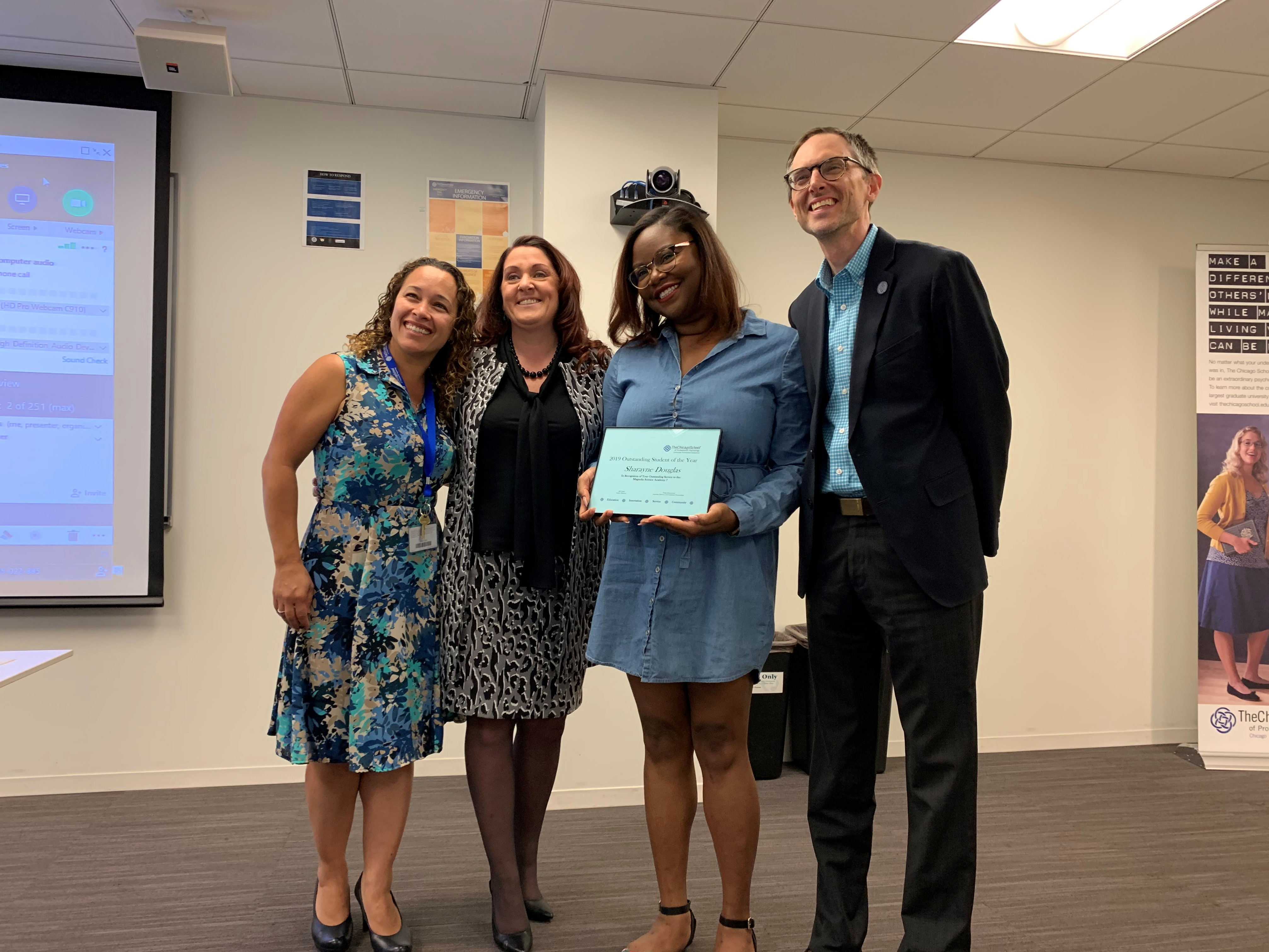 - Outstanding L.A. Student, Sharayne Douglas serving with Magnolia Science Academy 7.