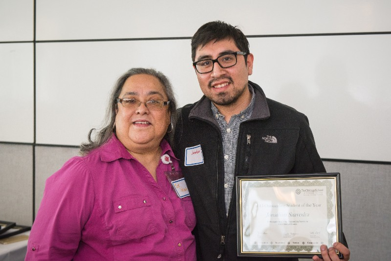 Outstanding Student of the Year - Jonathan Saavedra, Alivio Medical Center, pictured with Susan Vega